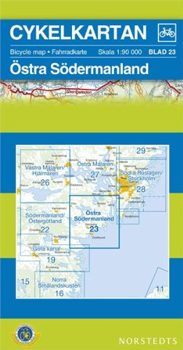 Sodermanland East Cycling Map: SE.CYK.23: Norstedts