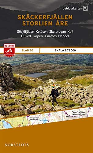 Outdoorkartan Schweden 10 Skäckerfjällen - Storlien - Aere 1 : 75 000 : amtliche Karte