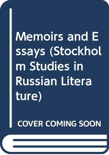9789122000273: Memoirs and Essays (Stockholm Studies in Russian Literature) (Russian and English Edition)