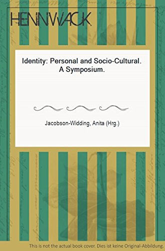 9789122006183: Identity: Personal and Socio-Cultural (Acta Universitatis Upsaliensis)
