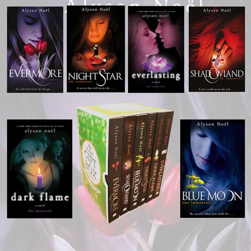 9789123498529: Alyson Noel Immortals Series Collection 6 Books Bundle Gift Wrapped Slipcase Specially For You