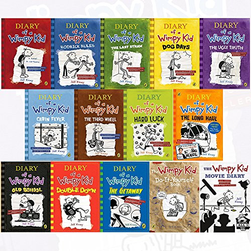 9789123622504 Diary Of A Wimpy Kid Collection 14 Books Set By Jeff Kinney Diary Of A Wimpy Kid Rodrick Rules The Last Straw Dog Days The Ugly Truth Hardcover The Getaway Double Down The Wimpy Kid Movie Diary
