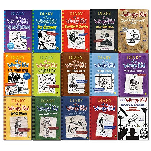 9789123756568 Diary Of A Wimpy Kid Series 1 15 Books Collection Set By Jeff Kinney The