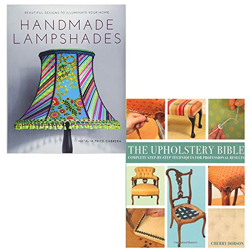 9789123757701: Handmade lampshades, upholstery bible 2 books collection set