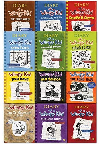 Diary of a Wimpy Kid Collection 13 Books Set (Double Down, Old School, Hard Luck,Third Wheel, Cabin...