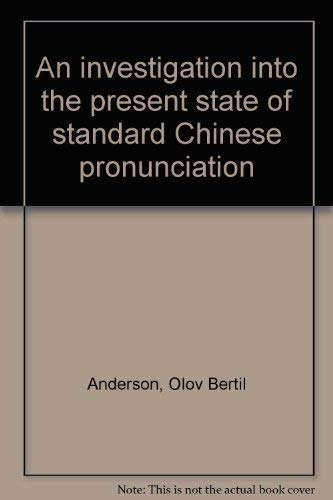 An Investigation into the present state of: Anderson, Olov Bertil