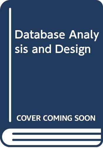 9789144187815: Database Analysis and Design