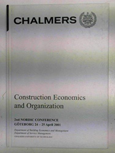 Construction Economics and Organization: J. Brochner, P.E.