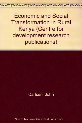 9789171061706: Economic and Social Transformation in Rural Kenya (Centre for development research publications)