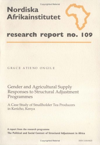 Gender and Agricultural Supply Responses to Structural: Grace Atieno Ongile