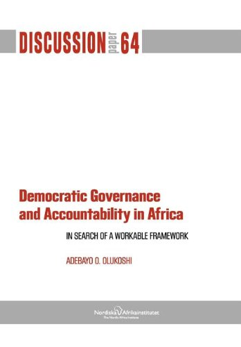 9789171067012: Democratic Governance and Accountability in Africa: In Search of a Workable Framework