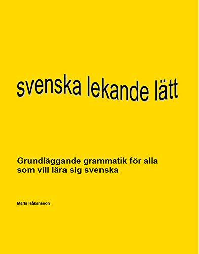 9789175650876: Svenska lekande lätt - en grammatikbok