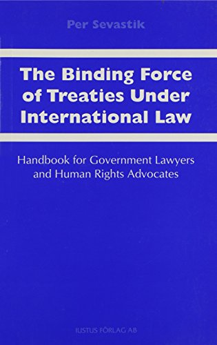 9789176783450: The Binding Force of Treaties Under International Law: Handbook for Government Lawyers and Human Rights Advocates
