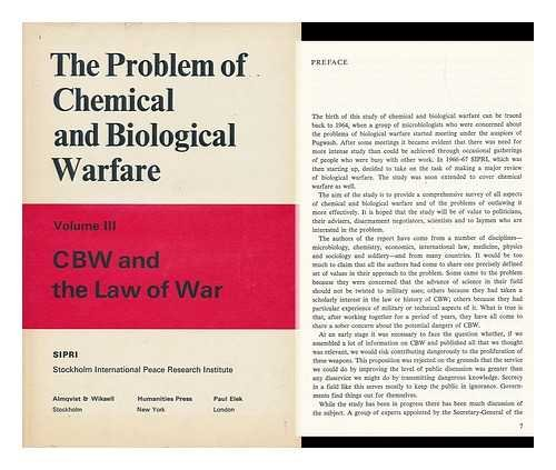 The Problem of Chemical and Biological Warfare.: SIPRI: