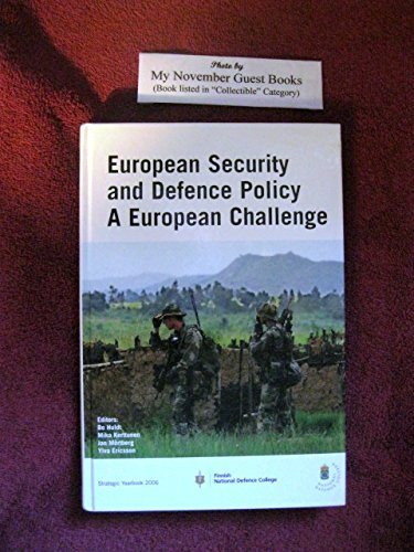 9789185401413: European Security and Defence Policy: A European Challenge