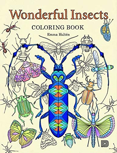 9789185639991: Wonderful Insects Coloring Book