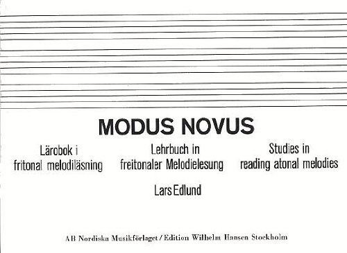 9789185662081: Modus novus : larobok I fritonal melodilasning (Swedish, German, English)