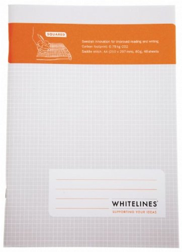 9789186177218: Whitelines Saddle Stitch A4 Squared Notebook: Supporting your ideas