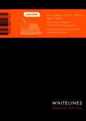 9789186411879: Whitelines Wire Top A6 Squared Notebook - Black (Whitelines Wire Top Notebooks)