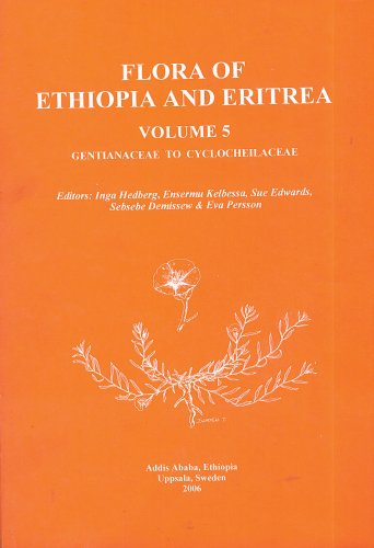 9789197128568: Flora of Ethiopia and Eritrea (Volume 5 Gentinaceae to Cyclocheilaceae)