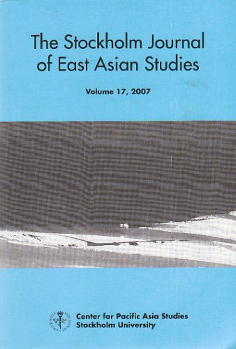 The Stockholm Journal of East Asian Studies: Ikegami, Masako (editor)