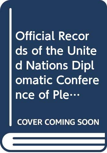 9789211008838: Official Records of the United Nations Diplomatic Conference of Plenipotentiaries on the Establishment of an International Criminal Court