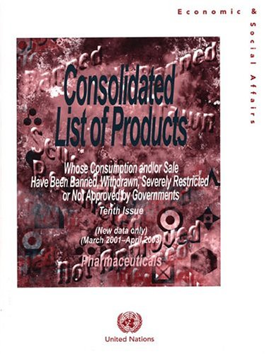 9789211302332: Consolidated List of Products whose Consumption and/or Sale Have Been Banned, Withdrawn, Severely Restricted or Not Approved by Governments: Pharmaceuticals