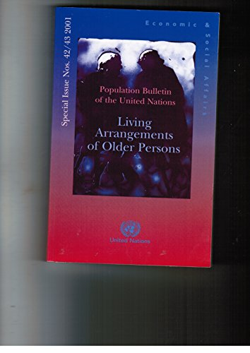 9789211513585: Population Bulletin of the United Nations, 42/43: Living Arrangements of Older Persons