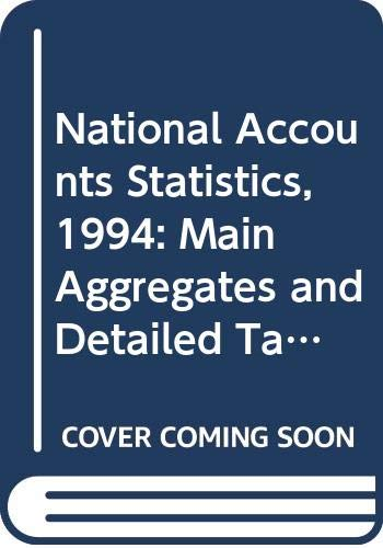 9789211613926: National Accounts Statistics: Main Aggregates & Detailed Tables