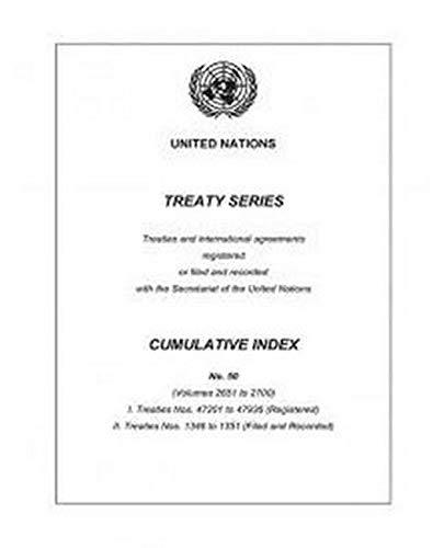 9789219100145: United Nations Treaty Series: Cumulative Index no. 50