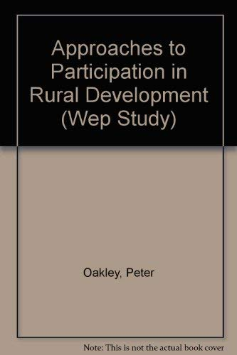 9789221035947: Approaches to Participation in Rural Development (Wep Study)