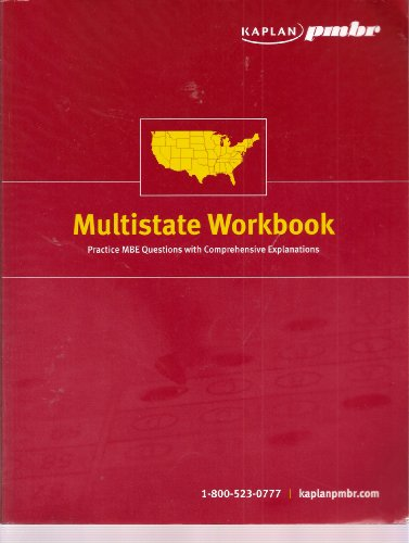 9789221151609: Kaplan PMBR Multistate Workbook: Practice MBE Questions with Comprehensive Explanations