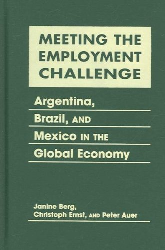 Meeting the Employment Challenge: Argentina, Brazil and Mexico in the Global Economy: Berg, Janine;...