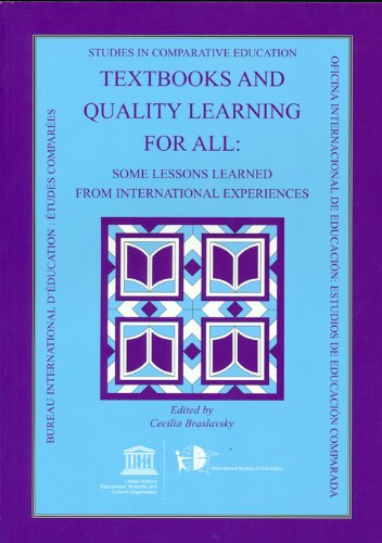 9789231040276: Textbooks and Quality Learning for All: Some Lessons Learned from International Experiences (Studies in Comparative Education)