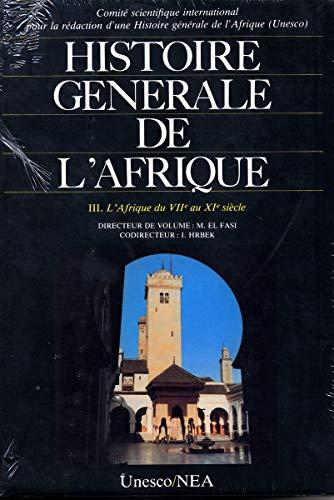 9789232017093: Histoire g�n�rale de l'Afrique, tome III : L'Afrique du VIIe au XIe si�cle