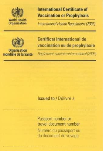 9789240580435: International Certificate of Vaccination: International Health Regulations (2005) / Reglement sanitaire international (2005)