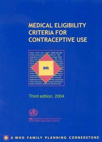 Medical Eligibility Criteria for Contraceptive Use: Who