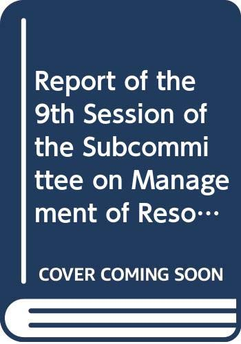 9789250036748: Report of the 9th Session of the Subcommittee on Management of Resources within the Limits of National Jurisdiction: Agadir, Morocco, 5-9 December 1994 (FAO Fisheries Report)