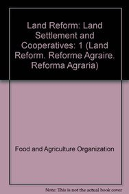Land Reform 2008/1: Land Settlement and Cooperatives (Land Reform. Reforme Ag.