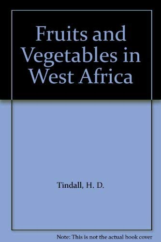 9789251000625: Fruits and Vegetables in West Africa