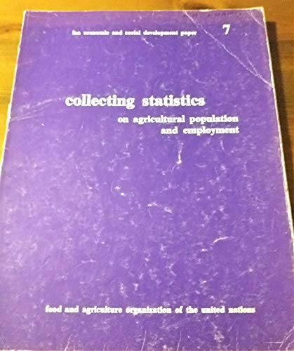 Collecting statistics on agricultural population and employment: Food and Agriculture