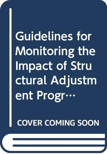 Guidelines for Monitoring the Impact of Structural: Food and Agriculture