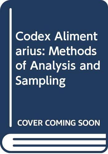 9789251036129: Codex Alimentarius: Methods of Analysis and Sampling