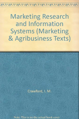 9789251039052: Marketing Research and Information Systems (Marketing & Agribusiness Texts)