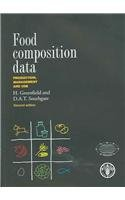 Food Composition Data: Production Management and Use: Southgate, D. A.