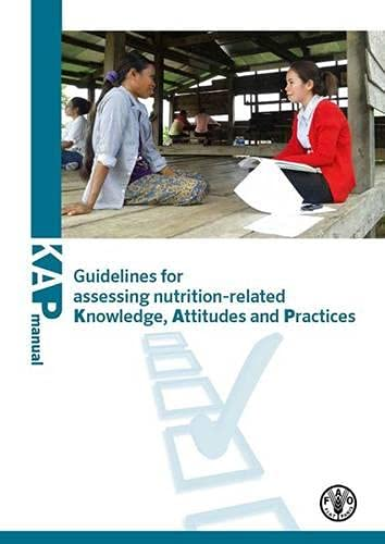 9789251080979: Guidelines For Assessing Nutrition-Related Knowledge, Attitudes And Practices
