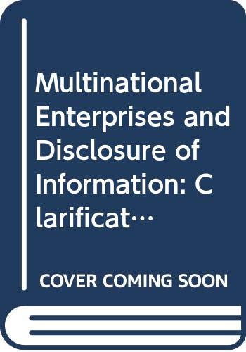 9789264030800: Multinational Enterprises and Disclosure of Information: Clarification of the Oecd Guidelines (English and French Edition)