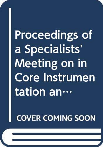 Proceedings of a Specialists' Meeting on In: OECD