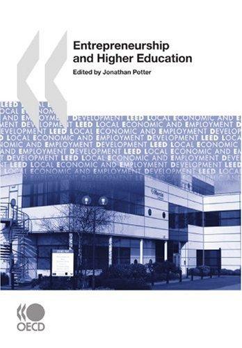 Local Economic and Employment Development (LEED) Entrepreneurship: Potter, Jonathan