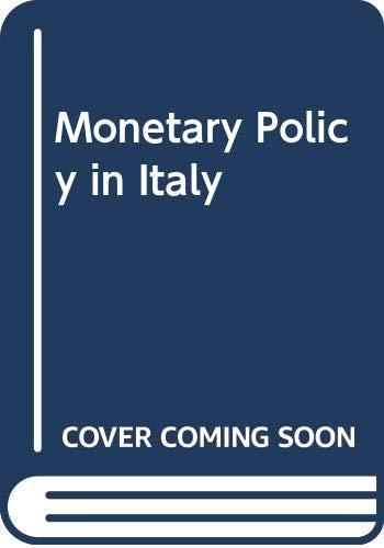 Monetary Policy in Italy: O.E.C.D.